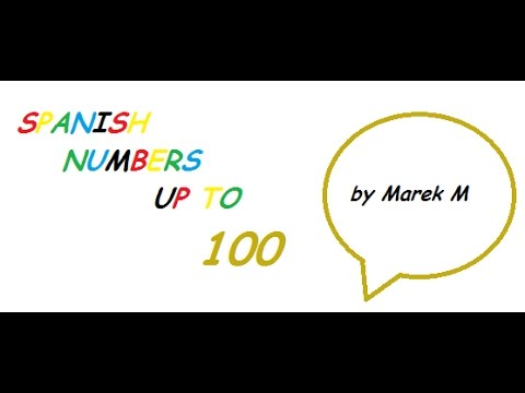 Spanish numbers up to 100