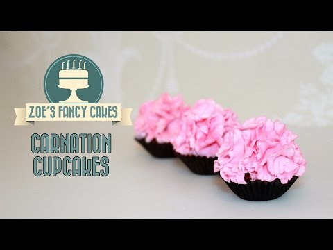 Carnation cupcakes: How to make carnations fondant carnation cake toppers