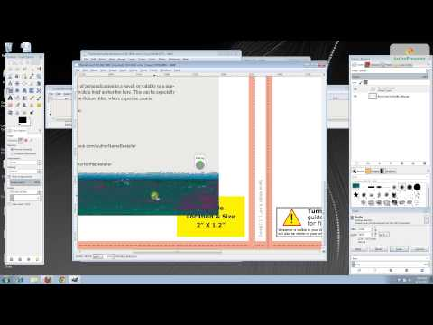 Design a CreateSpace book cover with GIMP