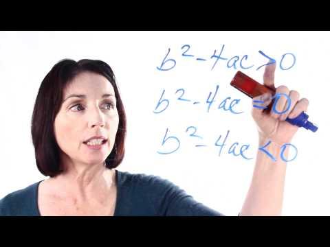 The Quadratic Formula: How to Use the Discriminant