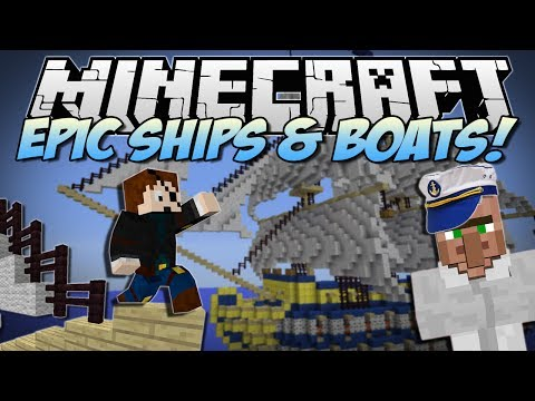 Minecraft | EPIC SHIPS & BOATS! (Turn Anything into a WARSHIP!) | Mod Showcase
