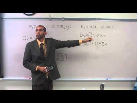 Comparing Reaction Quotient (Qc) and Equilibrium Constant (Kc) to Determine Reaction Direction 001