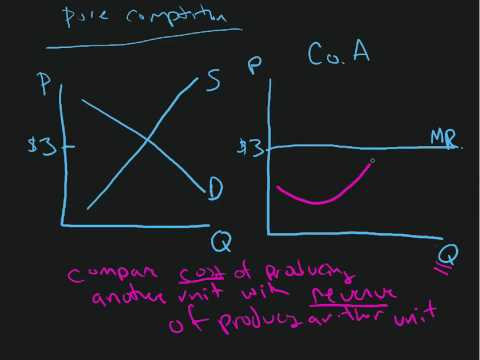 perfect competition 2 marginal cost and total cost & MC = MR