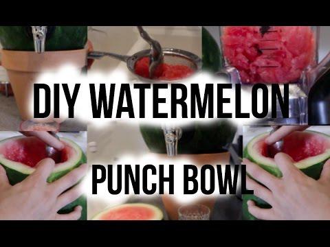 DIY Watermelon Punch Bowl