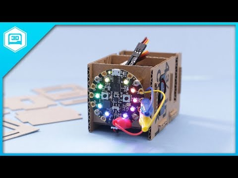 Cardboard Box Template for Circuit Playground