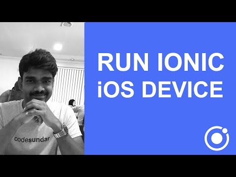 How to run cordova and ionic apps to iOS device or simulator