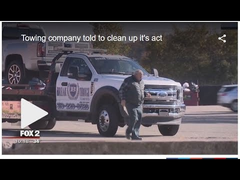 Tow company told to clean up its act