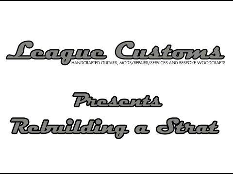 Rebuilding a Strat Electric Guitar - Bits & Pieces Time Lapse Video