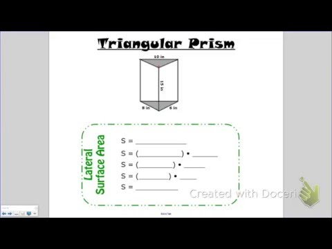 Lateral Surface Area of a Triangular Prism