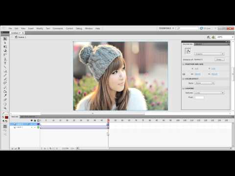 How To Create Fade In & Fade Out Is Used Alpha In Adobe Flash Professional Pro.