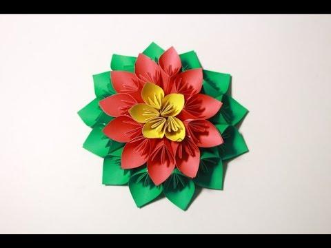 how to make 3d wall hanging Flower   Make Origami 3D Kusudama Flower Full Tutorial