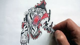 Peleng nece cekilir(Ehedov Elnur)Как нарисовать тигра_How to Draw a Tiger  Production Music courtesy of Epidemic Sound!