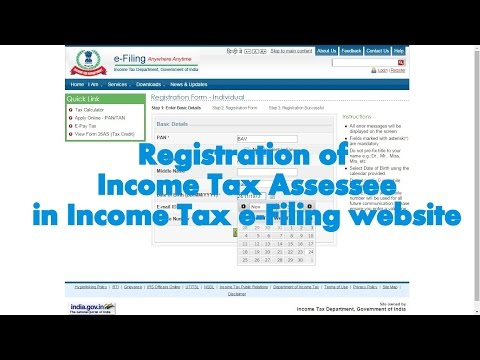How to register an Account in Income Tax India e-Filing website