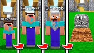 NOOBS LIFE IN MINECRAFT! (FROM BIRTH TO DEATH)
