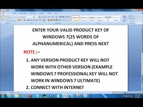 HOW TO CHANGE & ACTIVATE PRODUCT KEY IN WINDOWS 7.wmv