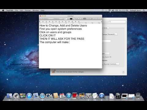 How to Change, Delete or Add User Accounts on Mac