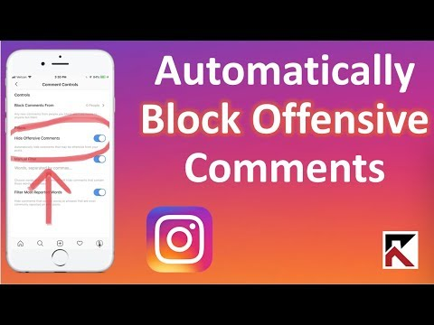 How To Automatically Block Offensive Comments Instagram