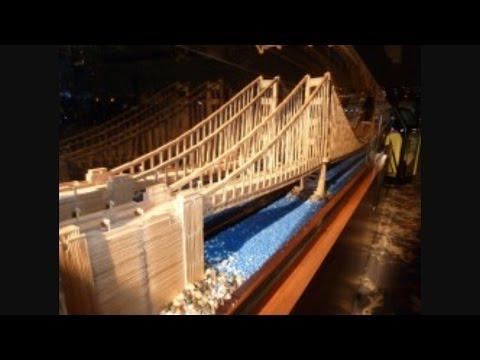 Epic Toothpick Bridge Destruction