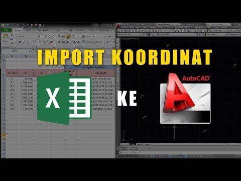 AutoCAD Tutorial - Cara Import Koordinat dari Excel ke AutoCAD