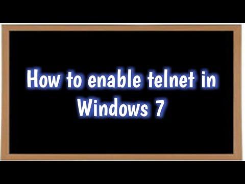 How to enable telnet in Windows 7    How to configure telnet server in Windows 7.