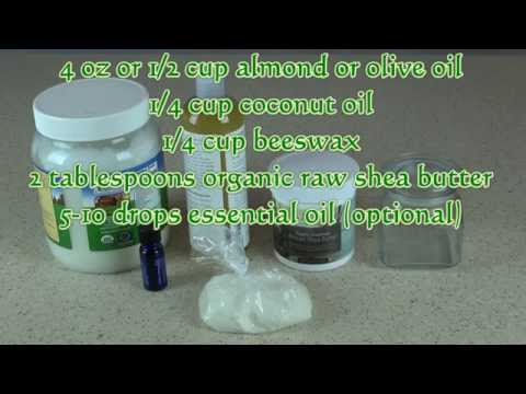 Shea Butter Lotion Recipe -- Learn How To Make Lotion At Home