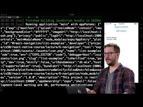 Navigation - Lecture 6 - CS50's Mobile App Development with React Native