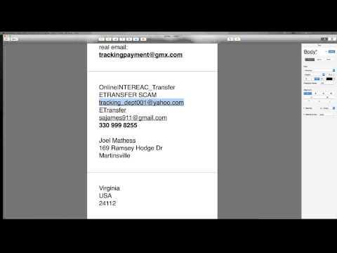 OnlineINTEREAC_Transfer Etransfer Scam tracking_dept001@yahoo.com  330 999 8255