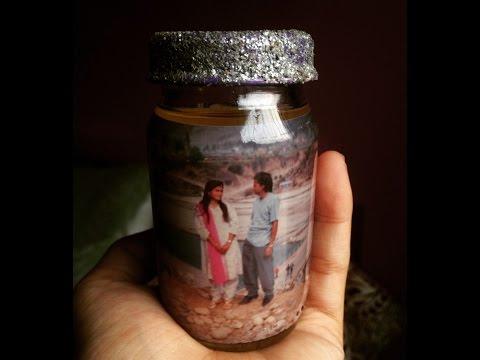 Diy gift | Bottle photo frame