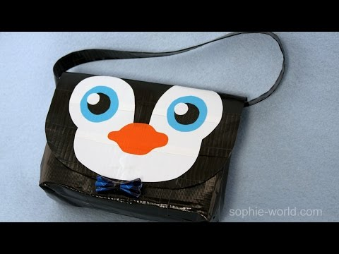 How to Make a Duct Tape Penguin Bag   Sophie's World