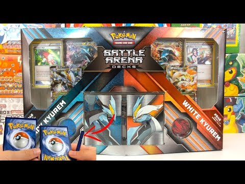 PIECES OF CARDS?? BLACK KYUREM VS WHITE KYUREM BATTLE ARENA DECK WITH TERRIBLE MISCUTS!!