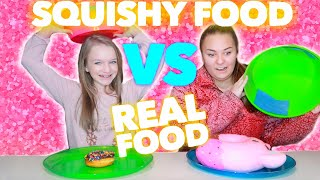 Download SQUISHY VS REAL FOOD CHALLENGE | Bryleigh Anne Video