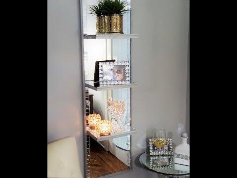 Mirrored Shelf Unit DIY