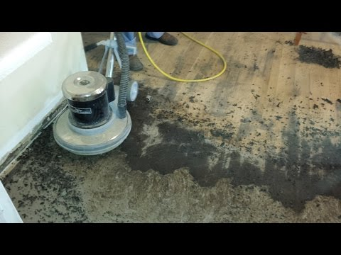 The easy way to remove old black tar linoleum adhesive from hardwood