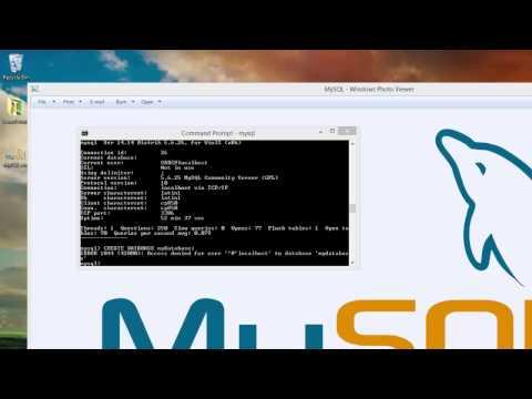 Mysql creating table on command line