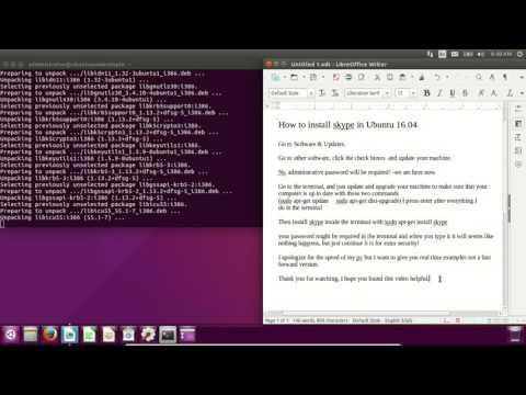 how to easily install skype in ubuntu 16.04