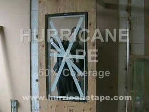 Hurricane Tape Vs. Duct Tape Test 50% Coverage