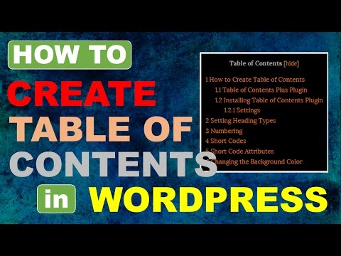 Table of Contents in Wordpress   Table of Contents Plus