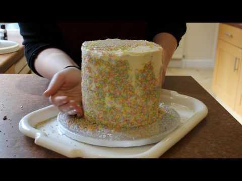 Eggsquisite Easter Sprinkle Covered Drip Cake