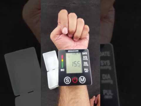 Unboxing BROADCARE Wrist Blood Pressure Monitor of High Accuracy Portable Wristband Electronic Intel
