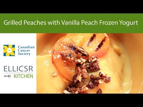 Grilled Peaches with Vanilla Peach Frozen Yogurt