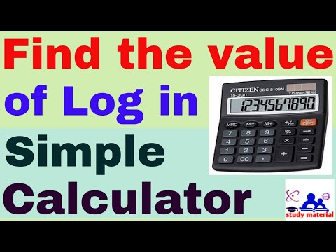 how to find log value in simple calculator (4 steps)