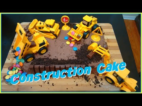 Easy Construction Site Birthday Cake DIY - Wesley's 5th Birthday