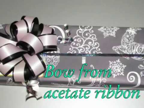 Acetate Ribbon Bow Tutorial