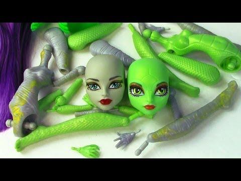 Create A Monster High Mummy & Gorgon Girls Doll Starter Pack CAM Set