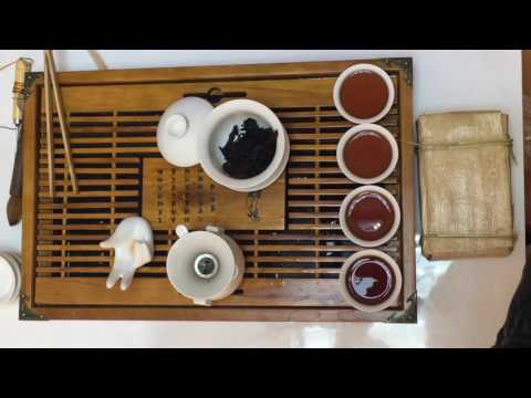 2016 250g ripe puer tea brick Let us see the liquor change