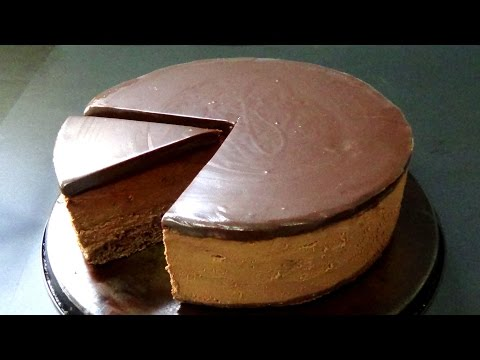how to make dark chocolate mousse cake step by step