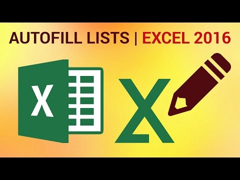 How to Create Custom Autofill Lists in Excel 2016 - Autocomplete Lists