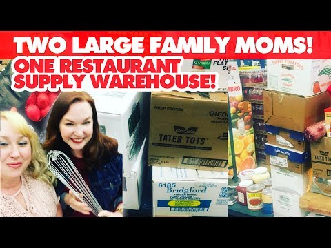 TWO Large Family Moms + ONE Restaurant Depot Supply Warehouse
