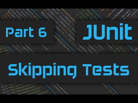 JUnit Tutorial with IntelliJ  - How to Skip Tests and Test Suites - Master JUnit Framework - Part 6