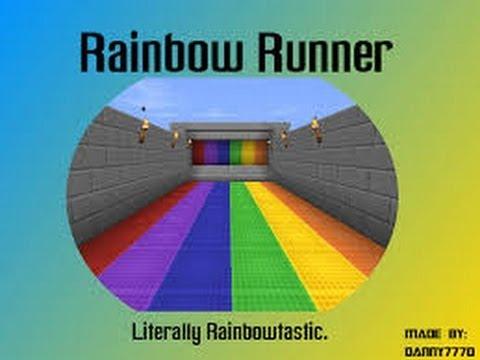 How to build rainbow runner minecraft part #2